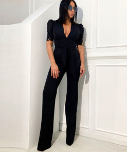 Elegant short sleeve jumpsuit