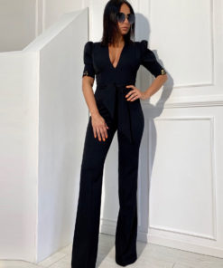 Black business jumpsuit