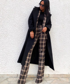 Women's checkered suit