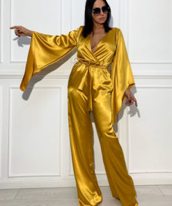 Womens satin jumpsuit