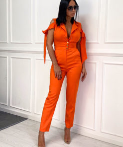 Women's jumpsuit with button fastening