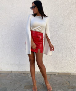Mini skirt with front pockets