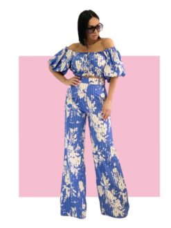 Blue Melody pantalone i crop top
