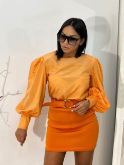 Cassie Orange mini suknja